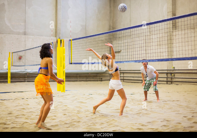 Volleyball Court Indoor Stock Photos & Volleyball Court Indoor ...