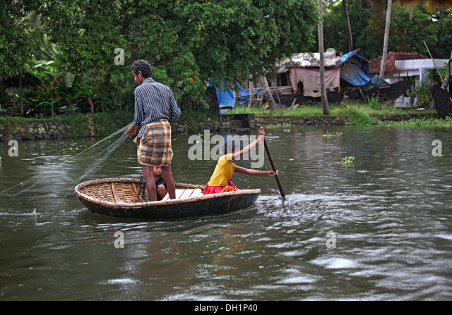 Round boat and india stock photos round boat and india for Round fishing boat