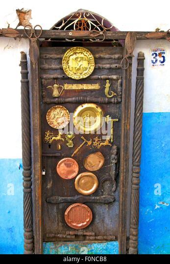 Highly Decorative Moroccan Door Rabat Morocco North Africa - Stock Image & Moroccan Door Stock Photos \u0026 Moroccan Door Stock Images - Alamy
