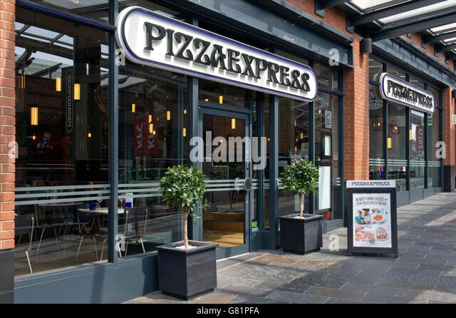 Pizza Express Italian Restaurant Sign Stock Photos Pizza