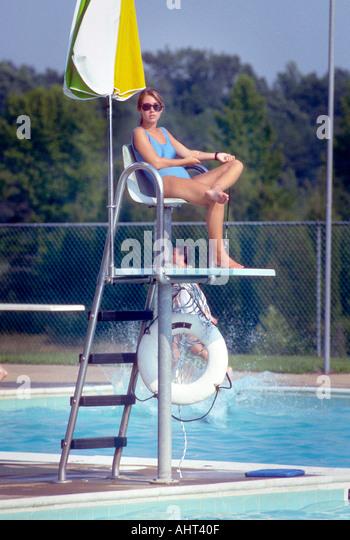 Public swimming pools lifeguard