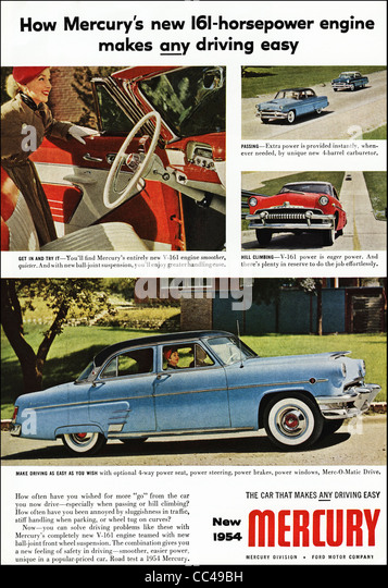 1950s car advert stock photos 1950s car advert stock for Ford motor company truck division