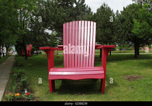 Oversized Adirondack Chairs On The Plateau In Montreal, Que., June 8, 2016