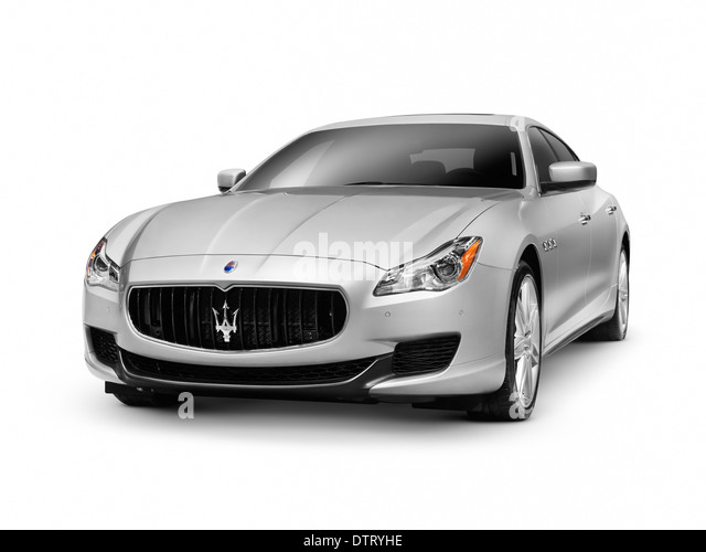 2014 Maserati Quattroporte S Q4 Luxury Car Isolated On White Background  With Clipping Path   Stock