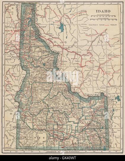 Idaho State Map Stock Photos Idaho State Map Stock Images Alamy - Map of idaho state