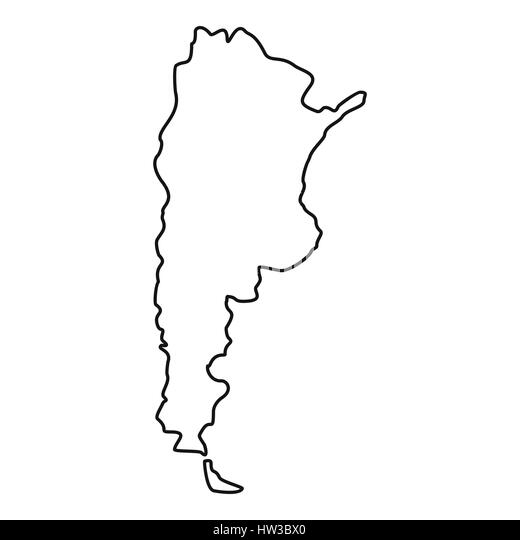 Argentina Map Stock Photos Argentina Map Stock Images Alamy - Argentina map black and white