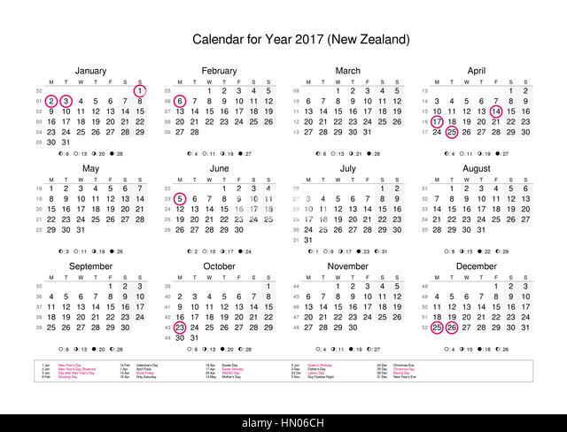 Year Calendar New Zealand : New zealand date stock photos