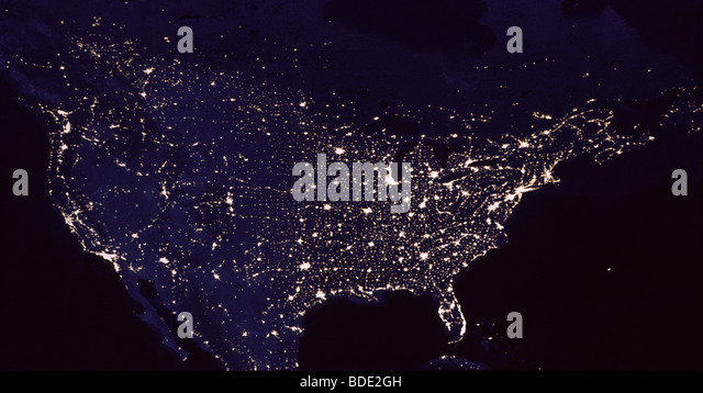 Earth night from space north stock photos earth night from space earth at night from space north america stock image gumiabroncs Choice Image