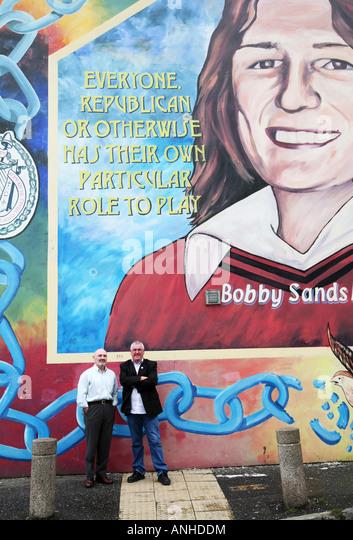 Bobby sands mural belfast stock photos bobby sands mural for Bobby sands mural falls road