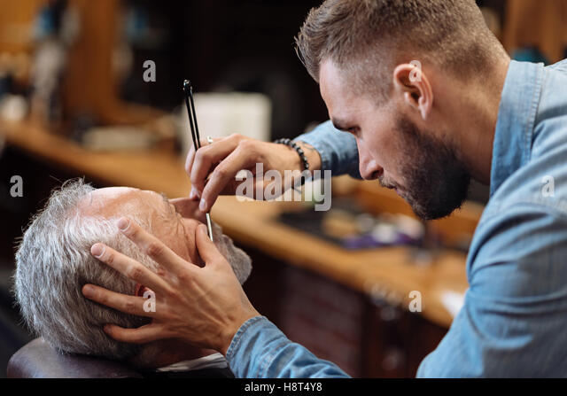 barbershop and shave and razor stock photos barbershop and shave and razor stock images alamy. Black Bedroom Furniture Sets. Home Design Ideas