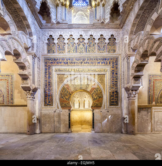 Qibla stock photos qibla stock images alamy for Mezquita de cordoba interior