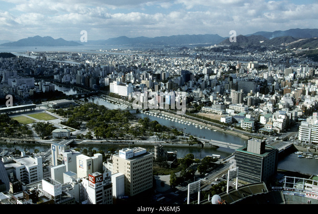 Aerial View Hiroshima City Stock Photos & Aerial View Hiroshima City Stoc...