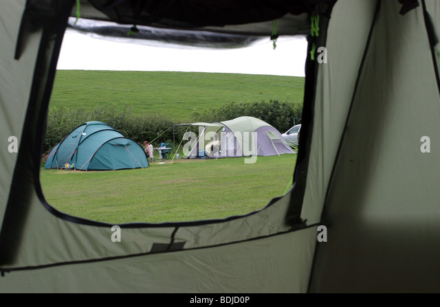 View through a tent window - Stock Image & View Through Tent Window Stock Photos u0026 View Through Tent Window ...