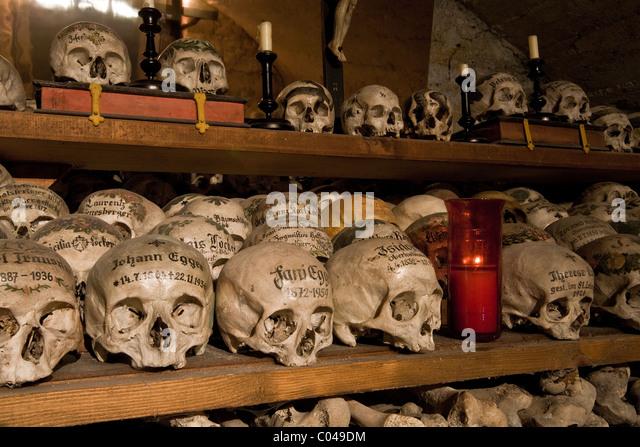 Nice The Bone House (beinhaus) In Hallstatt In The Michaelskappelle (St  Michaelu0027s Chapel)