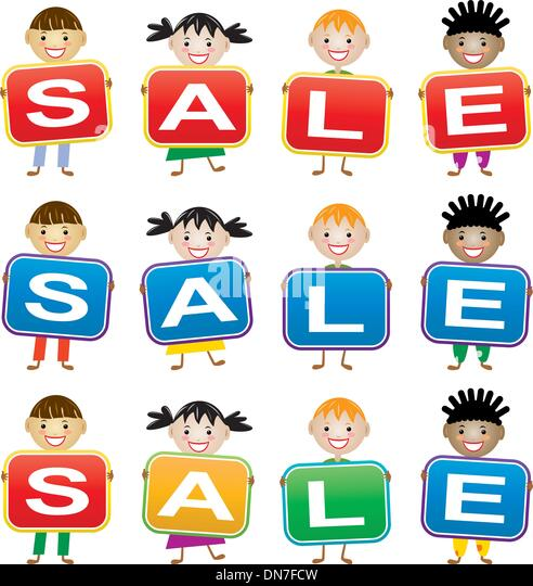 vector children holding cards with letters stock image