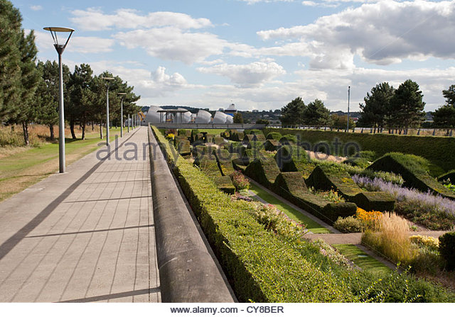 The Thames Flood Barrier Seen From Thames Barrier Park, Silvertown, London    Stock Image