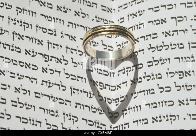 Jewish Wedding Ring Stock Photos Jewish Wedding Ring Stock