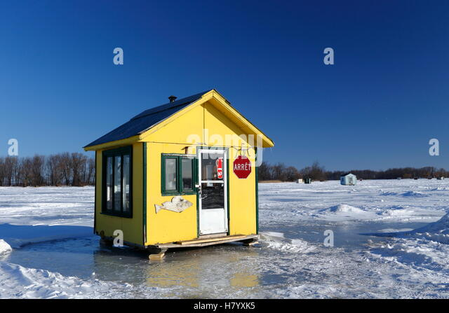 Ice Fishing House Stock Photos Ice Fishing House Stock