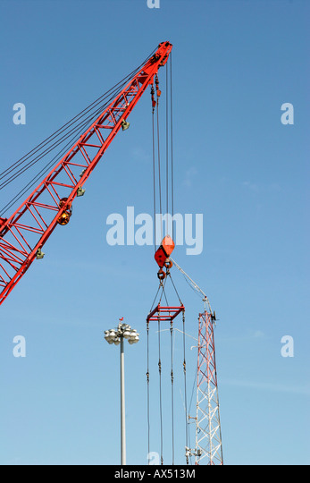 Pulleys In Cranes : Cable pulleys stock photos images