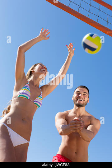Family beach volleyball