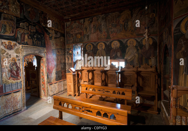 Interior Greek Orthodox Monastery Church Stock Photos ...