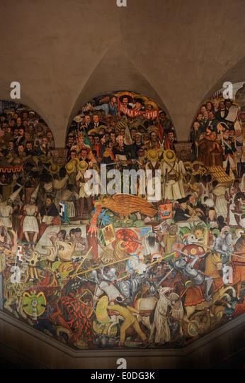 Muralist stock photos muralist stock images alamy for Diego rivera mural new york