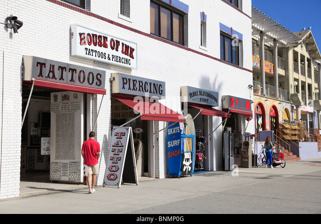 Venice beach tattoo shop stock photos venice beach for Tattoo shops los angeles
