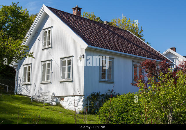 Typical norwegian house wood house stock photos typical for Norway wooden houses