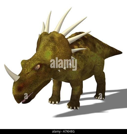 Triceratops Dinosaur stock vector. Illustration of ...