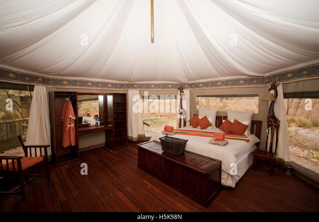 Interior view of a luxurious safari tent Three Baobab Lodge Savuti Botswana & Luxury Safari Tent Stock Photos u0026 Luxury Safari Tent Stock Images ...
