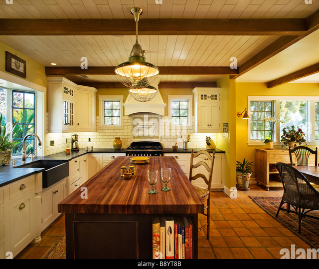 Spanish style home california stock photos spanish style for California style kitchen