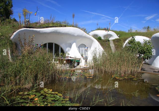 Switzerland dietikon zurich earth house stock photos for Earth house switzerland