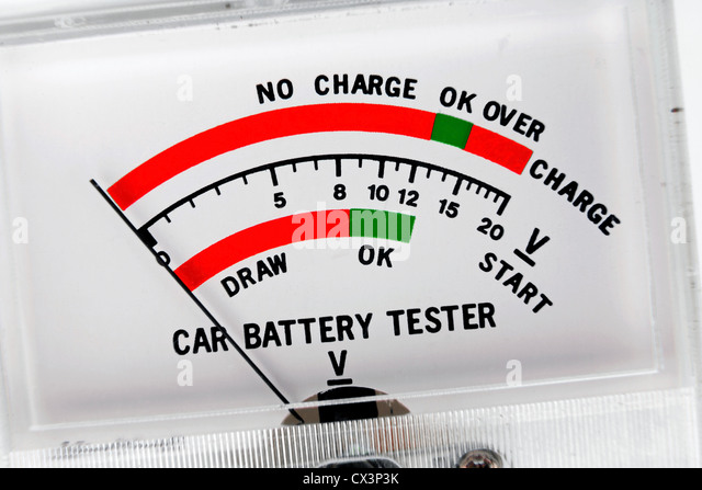 how to use an ammeter on a car battery