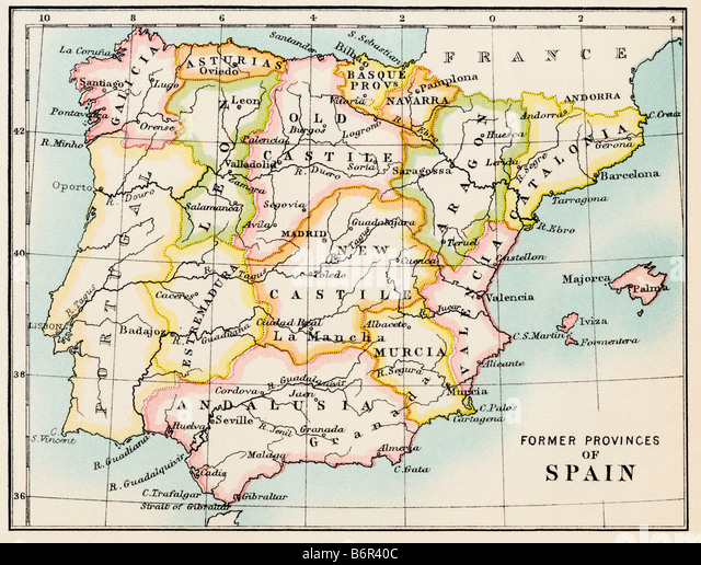 Map Spain Stock Photos Map Spain Stock Images Alamy