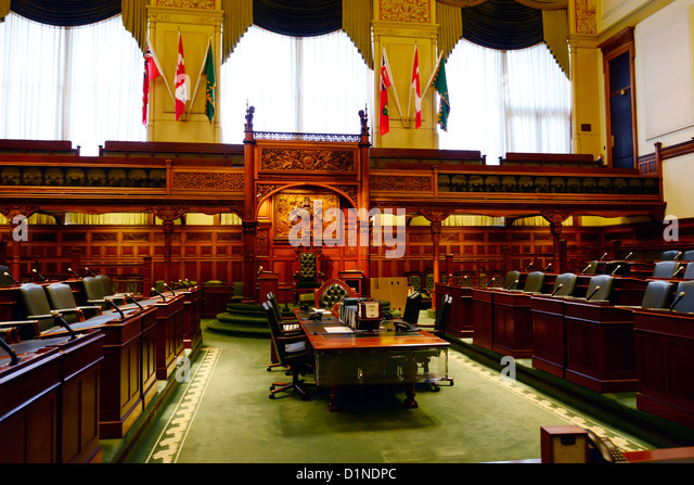 Interior Legislative Assembly Queens Park Toronto Ontario Canada Capital City