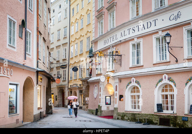 hotel altstadt cafe salzburg stock photos hotel altstadt cafe salzburg stock images alamy. Black Bedroom Furniture Sets. Home Design Ideas