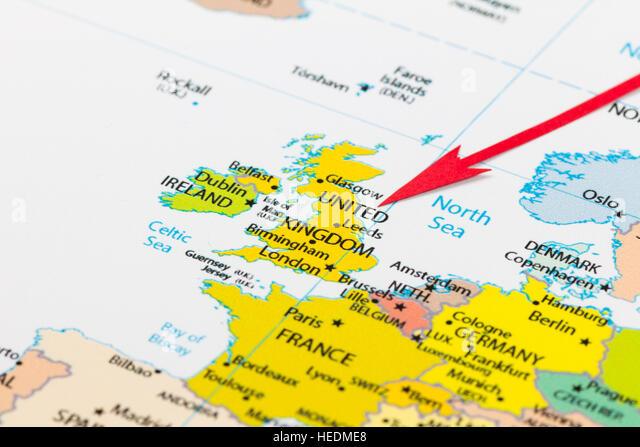 United Kingdom Political Map Stock Photos United Kingdom - Political map of united kingdom