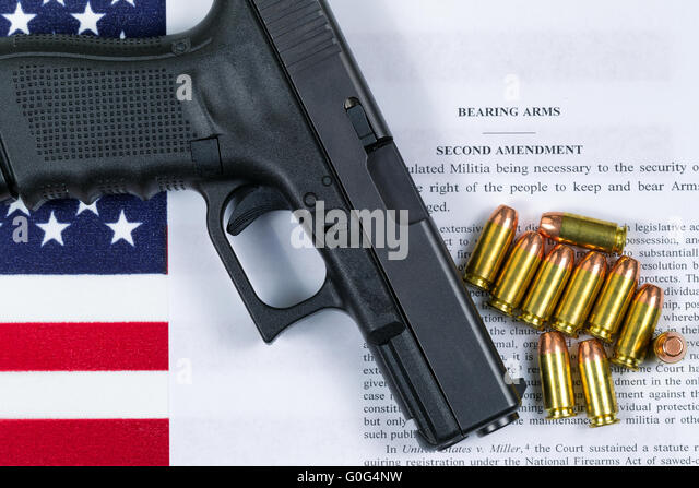 right to bear arms stock photos right to bear arms stock images  pistol flag and american paper for right to bear arms stock image