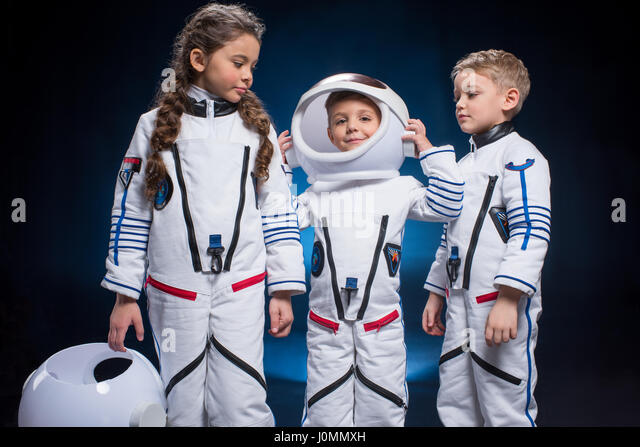 Little Girl In Astronauts Space Stock Photos & Little Girl ...