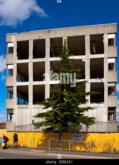 Old Concrete Buildings : Concrete building demolition stock photos