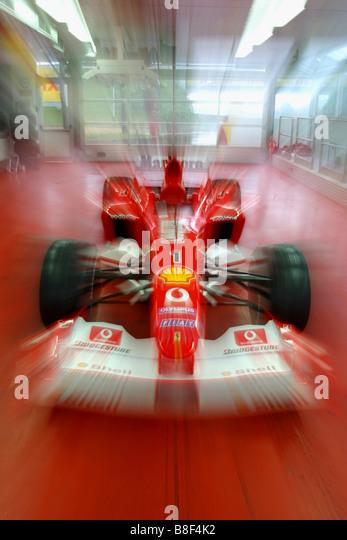 Schumacher S F1 Ferrari Inside The Fiorano Test Track Fire Station   Stock  Image