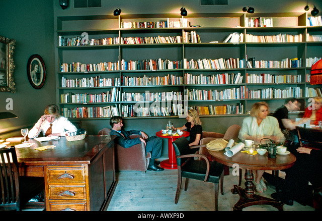 Paris France French Restaurant Contemporary Bar Interior Library Style Dining Room