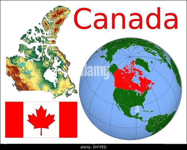 Canada Globe Location Flag Stock Photos Canada Globe Location - Canada location