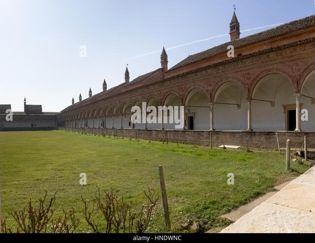 certosa di pavia italy march 8 2015 large garden surrounded by the - Large Garden 2015