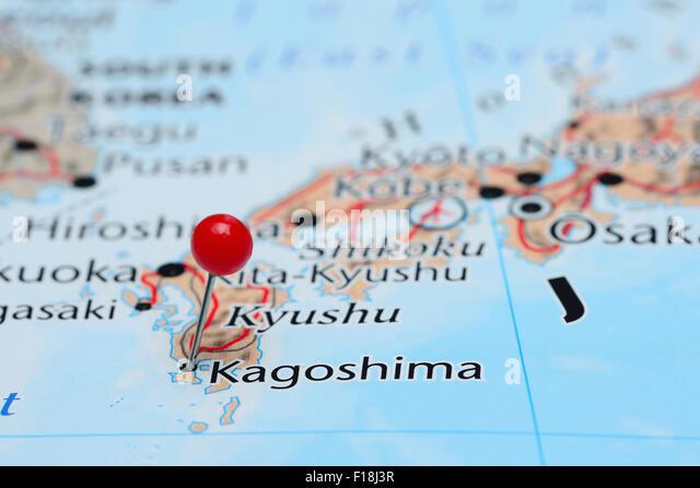 Kagoshima Map Stock Photos Kagoshima Map Stock Images Alamy