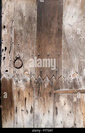 Old oak wooden paneled door. Burford Oxfordshire England - Stock Image & Paneled Door Stock Photos \u0026 Paneled Door Stock Images - Alamy