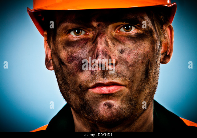 Mine Worker Dirty Face Stock Photos & Mine Worker Dirty ...