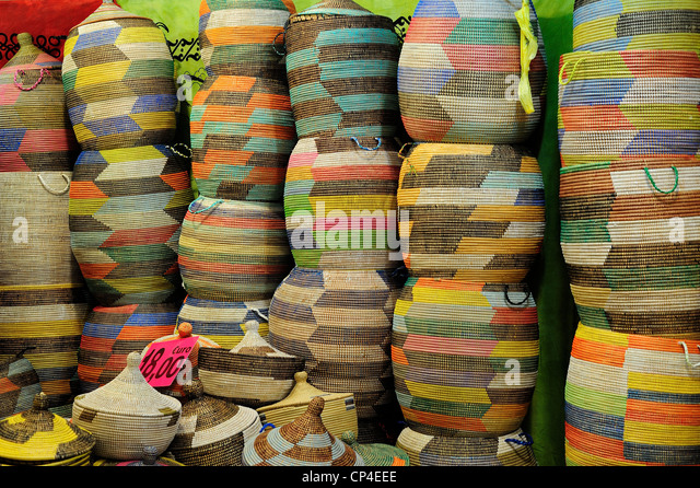 Handicraft Basketry : Swaziland basket stock photos