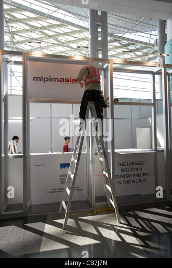 Exhibition Stand Hong Kong : Construction stand stock photos