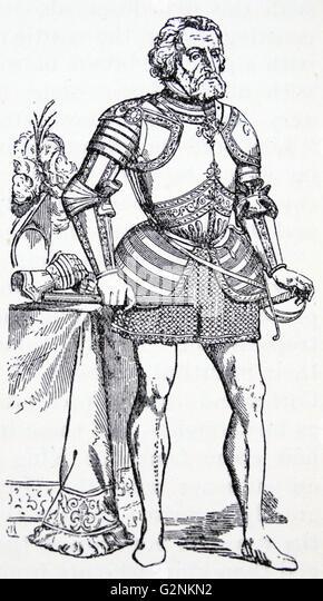 hernando cortes conqueror of mexico stock image